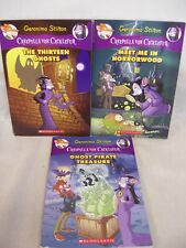 GERONIMO STILTON BOOKS, CREEPELLA,THIRTEEN GHOSTS,MEET HORRORWOOD,PIRATE TRESURE