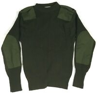 USMC DSCP Green Wool Commando Sweater With Epaulettes Size 40 Army #A26