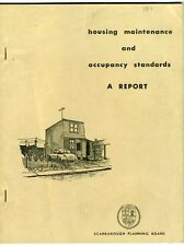 REPORT ON HOUSING MAINTENANCE AND OCCUPANCY STANDARDS Scarborough Ontario 1967