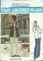 Vogue 2681 sewing pattern 70s Couturier JACKET PANTS SHIRT sew GALITZINE size 16