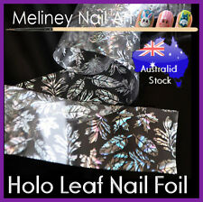 Holographic Leaf Nail Art Foil Glue Sticker Transfer Nail Tips