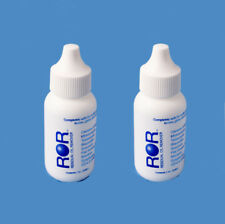 ROR Lens Cleaner - TWO 1oz Dropper Bottles. (ROR - Residual Oil Remover)