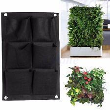 6Pocket Vertical Greening Hanging Wall Garden Planting Bag Wall Planter Herb Pot