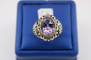 Greh Anthony 18k Yellow Gold & Sterling Silver Amethyst Ring