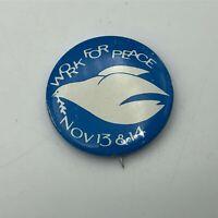 "1960's Anti Vietnam War Work for Peace Dove 1-1/2"" Button Pin Pinback Vtg  Q2"