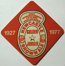 NEWCASTLE BROWN ALE GOLDEN JUBILEE Beer COASTER, Mat, UNITED KINGDOM 1977 issue