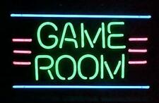 """New Game Room Beer Bar Real Glass Neon Light Sign 24""""x20"""""""