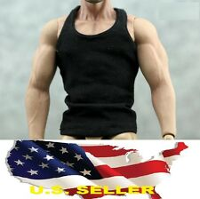 1/6 Men clothes Sport casual Black Base Tank Top for Hot toys phicen ❶US seller❶