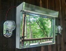 VTG Lighted Medicine Cabinet Sliding Mirror Doors + Pair Side Lights Sconces