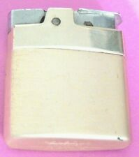 VINTAGE WORKING RONSON MINI ROVER LIGHTER -SATIN GOLD TONE FINISH COLLECTIBLE