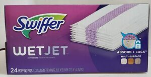 NEW Swiffer WetJet System Refill Cloths Box of 24, White
