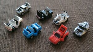 7 GALOOB MICRO MACHINES DELUXE CARS PORSCHE, FERRARI, CORVETTE, GULLWING 80'S