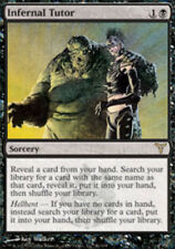 Dissension Infernal Tutor x1 Moderate Play, English Magic Mtg M:tG