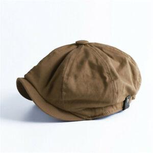 Men Vintage Painter Beret Hats Summer Octagonal Newsboy Cap Cabbie Lvy Flat Hat