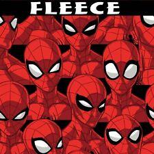 "Marvel Spider Sense Fleece Fabric Spiderman Anti Pill 60""Wide Quilt Shop Quality"