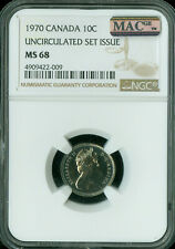 1970 CANADA 10 CENTS NGC MAC MS68 PQ FINEST GRADE SPOTLESS  ..