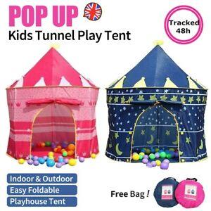 Childrens Kids Baby Pop Up Play Tent Fairy Girls Boys Playhouse Indoor Outdoor