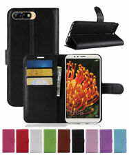Luxury Magnetic PU Leather Wallet Flip Case Cover For HUAWEI Y6 2018