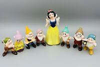 Walt Disney Snow White And The Seven Dwarfs Ceramic Vintage Figures - Rare