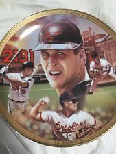 plate baseball Cal Ripken Jr record breakers Bradex collectable Baltimore Oriole