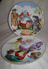 2 SAXONY LIMITED EDITION DAVID FISHER PLATES BAA BAA BLACK & JACK AND JILL