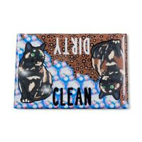Tortoiseshell Calico Cat Dishwasher Magnet Kitchen Cleaning Tool Accessories