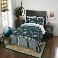 Queen Phili Eagles Bed In Bag Set Team Logo Printed Comforter Fitted Sheet
