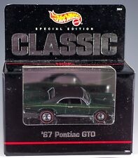 Hot Wheels Hills '67 Pontiac GTO Green Special Edition 1998 MIB