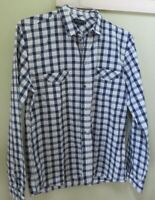 PAUL SMITH Blue & White Checked Cotton Long Sleeved Shirt Size M