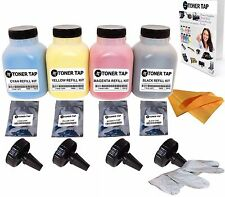 Toner Tap Refill Kit for Samsung CLX-3185 CLP-320 CLP-325 CLT-407 (4 Pack, KCMY)