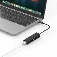 3Ports USB2.0 HUB Type C À Ethernet LAN RJ45 Câble Réseau Adaptateur Carte N1K4