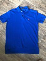 POLO RALPH LAUREN Mens Polo Shirt Small Blue Cotton