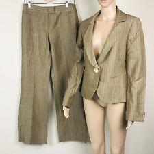 Lafayette 148 New YorkWomen's Pant Suit Blazer/Pants size 4/6 Taupe Striped