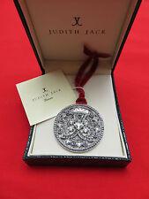 Judith Jack Christmas Holiday Ornament Snowflake Marcasite Crystal Logo 406h