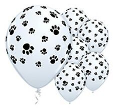 Paw Print Latex Balloons x 6 Paw Patrol Scooby Doo Farm Zoo Animals Dog Puppy