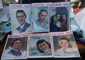 IL CANZONIERE DELLA RADIO.Quindicinale.Lotto di 6 numeri del 1942