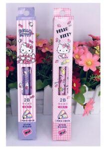 Triangular Hello Kitty Pencil 2B Wooden Fat Thicker Toddler Kids Sharpener Gift