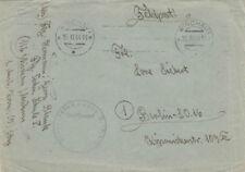ENVELOPPE COURRIER MILITAIRE AVEC TAMPON DE LETTRE DE 1944 (agf2056)