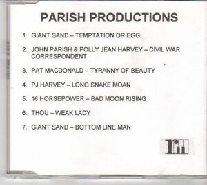 (EX690) Parish Productions, 7 track sampler various artists - DJ CD