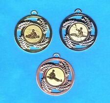 100 Medaillen bronze mit Emblem Pokern + Band #620 (Pokale Medaille Turnier)