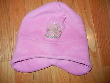 girls fleece hat pink princess 4/6x