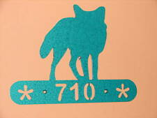 Fox Home Metal Personalised Plaque Address Sign Wall Decor House