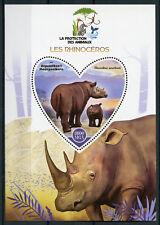 Madagascar 2017 MNH Rhinoceros Rhinos 1 S/S Rhino Wild Animals Stamps