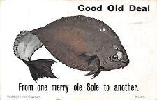 POSTCARD  COMIC   DEAL   Merry  ole  Sole........