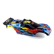 Traxxas Rustler 4X4 VXL Blue/Red/Yellow Body Shell w/ Clipless Mounting