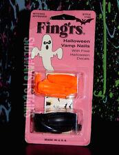 sealed FING'RS HALLOWEEN VAMP NAILS + DECALS nail art orange black witch vintage