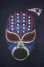 NFL New England Patriots Football Face Mask Fan Cotton T-Shirt L ~NWT~