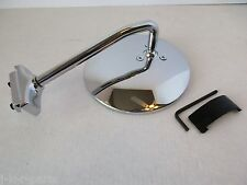 """4 1/2"""" LONG ARM STAINLESS PEEP MIRROR SIDEVIEW HOT ROD CAR TRUCK #6611"""