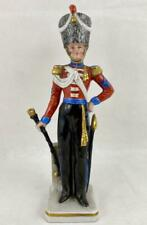 Sitzendorf Military Soldier Figurine ~Royal Irish Fusiliers Drum Major 1828