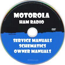Motorola Ham Radio Service Owner Manuals & Schematics- PDFs on DVD- Huge Set